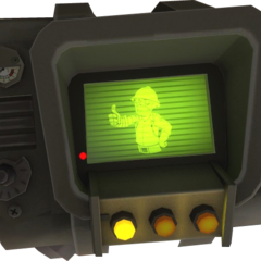 Promotional Pip-Boy 3000 from <i>Team Fortress 2</i>