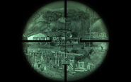 Varmint rifle nightscope effect