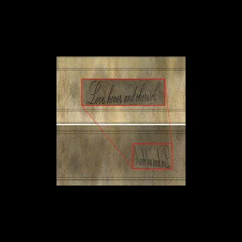 Вгравіруваний текст на внутрішній стороні кільця