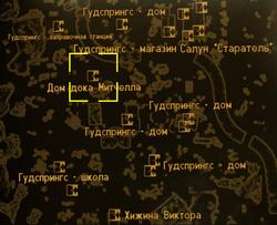 FNV Mitchells house locmap