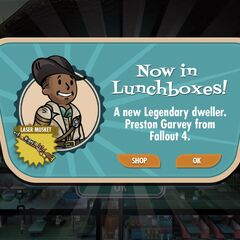 Preston Garvey announcement in <i>Fallout Shelter</i>