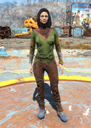Fo4ColorfulGreenUndergarments female