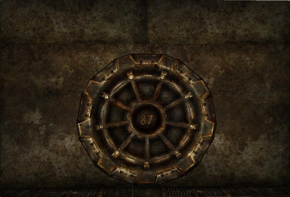 Vault 87 gear door