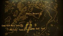 Camp Golf tent loc map