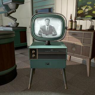 Телевізор, що показує трансляцію зі студії