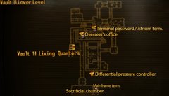 Vault 11 lower level map
