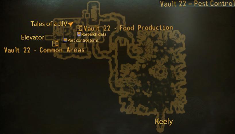 Vault 22 pest control map