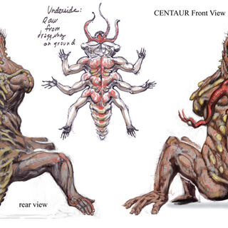 Centaur concept art by Adam Adamowicz.
