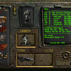 Inventory screen