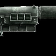 12,7-мм пістолет з встановленим глушником.