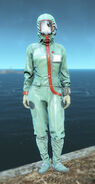 FO4 Hooded cleanroom suit female