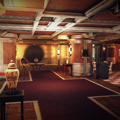 The bunker's foyer area, accessible with the <a class=