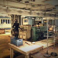The genetics lab, found in the bunker's science wing