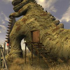 Вхід у магазин сувенірів «У динозавра»