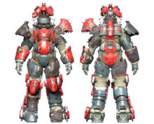 FO4CC Horse power armor red