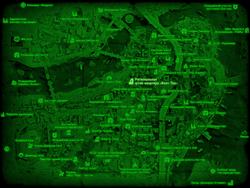FO4 Региональная штаб-квартира «Волт-Тек» (карта мира)
