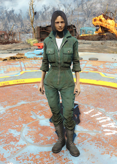 Fo4 mechanic jumpsuit green