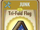 Tri-fold flag