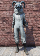 FO76 Sheepsquatch Mascot Outfit With Hat