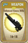 FoS Enhanced Gauss Rifle Card
