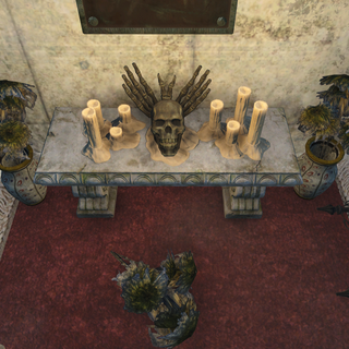 The shrine located in one of the tombs