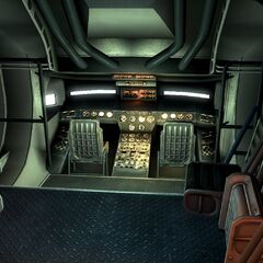 Cockpit of a Gunship variant