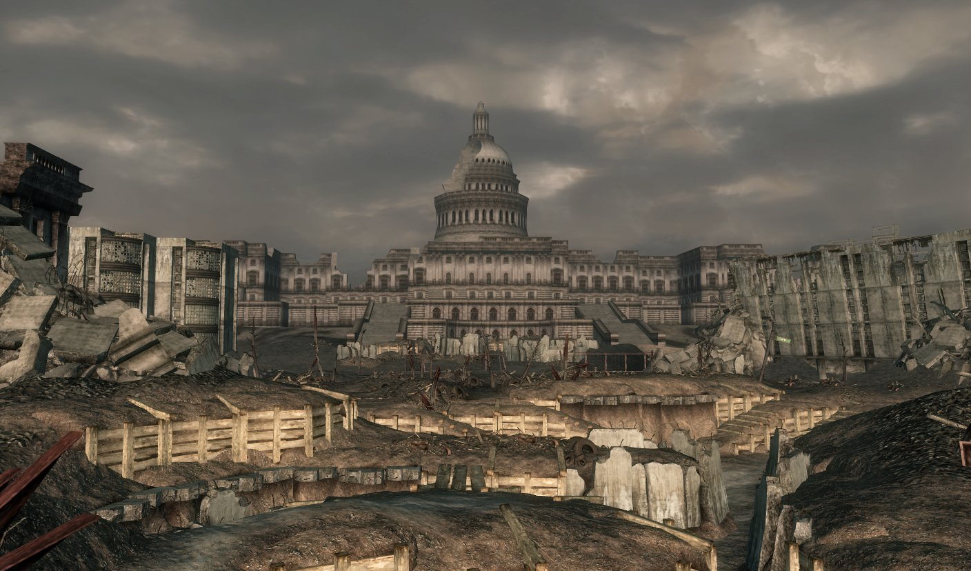 The Capitol Building Fallout Wiki FANDOM Powered By Wikia - Fallout game map of us