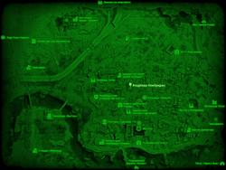 FO4 Кладбище Кембриджа (карта мира)