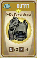 FoS T-45d Power Armor Card