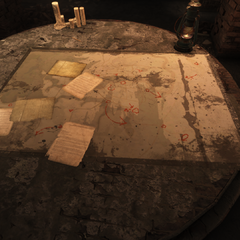Map on table in Railroad HQ