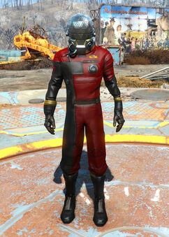 Morgan's space suit