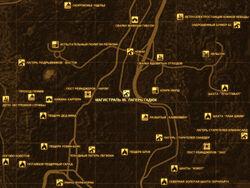 FNV Карта МАГИСТРАЛЬ 95. ЛАГЕРЬ ГАДЮК