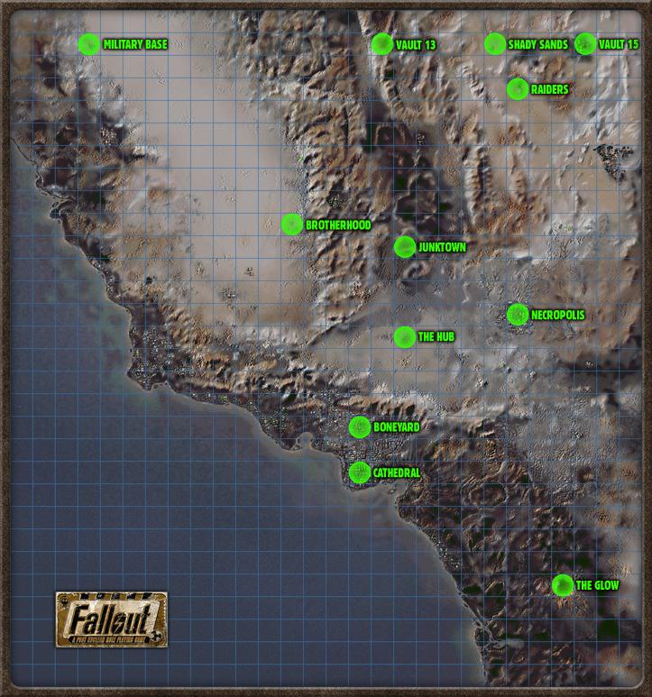 Fallout 1 World Map World map | Fallout Wiki | Fandom