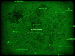 FO4 Палатка поселенцев (карта мира)
