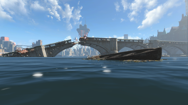 File:FO4 boat near Wreck of the USS Riptide.png