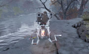 FO76 Paranoid robot about to explode
