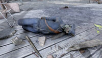 Fo76 Responder corpse in Morgantown Airport (Dirty postman uniform)