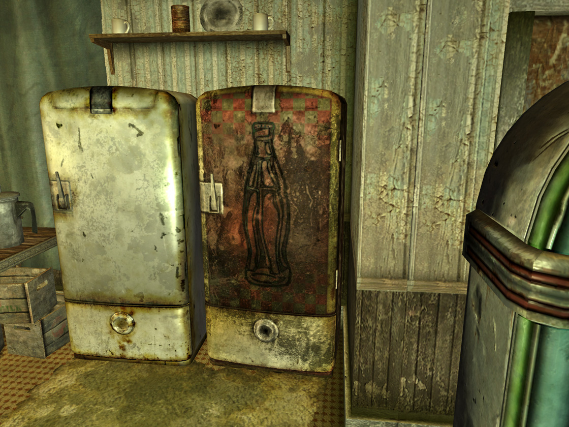 Nuka Cola fridge in CC mess hall