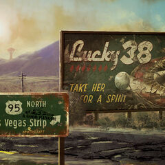 Lucky 38 advertisement on a loading screen