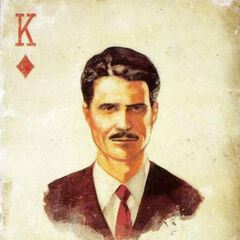 Mr. House's playing card, the King of Diamonds.