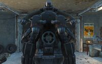 CC Hellfire power armor jet pack rear