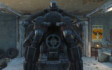 CC Hellfire power armor jet pack rear