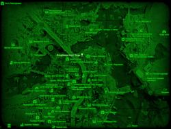 FO4 Кладбище Норт-Энда (карта мира)