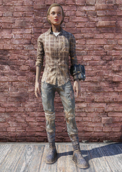 FO76 Flannel Shirt and Jeans