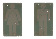 Fo4 restroom signs