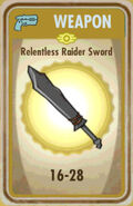 FoS Relentless Raider Sword Card