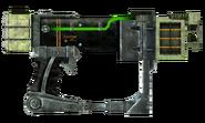 Laser pistol focus optics recycler