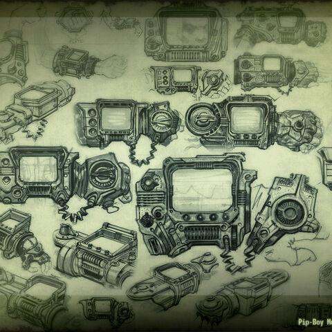 Концепт-арт Піп-бою і рукавички (<i>Fallout 3</i>)