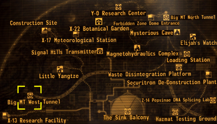 Image   Big MT West tunnel map.png | Fallout Wiki | FANDOM powered