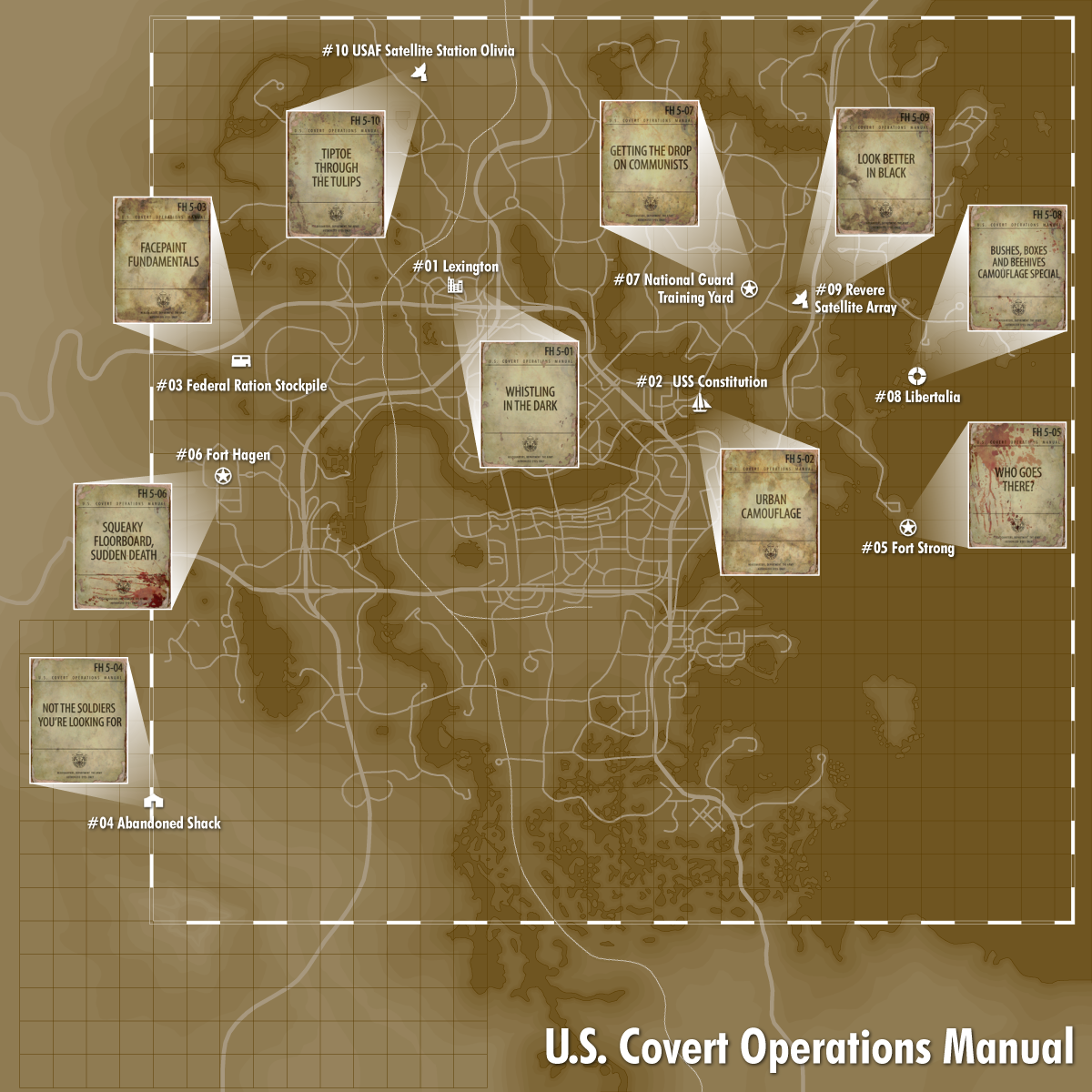 US Covert Operations Manual Fallout Wiki FANDOM Powered By Wikia - Fallout game map of us